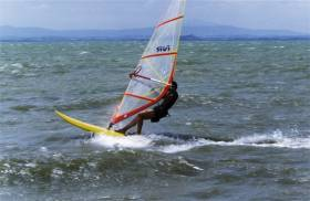Windsurfen am Lago Trasimeno