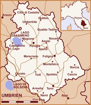 Toskana Karte Deutsch.Urlaub In Umbrien Toskana Sehenswurdigkeiten Italien
